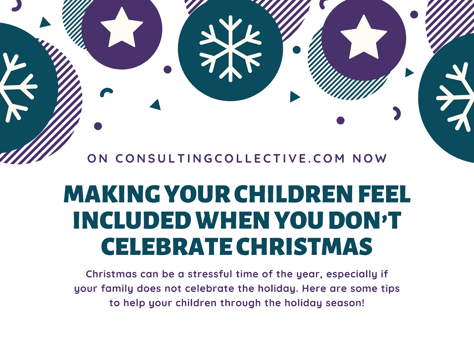 children not celebrating christmas